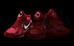 sneakers, nike, red