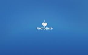 photoshop, Amore, blu, cuore