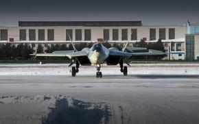 ПАК ФА Т-50,  истребитель,  аэропорт