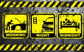 morning, night, midnight, Icons