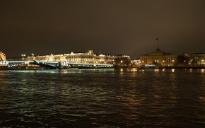 St. Petersburg, Peter, night, bridge