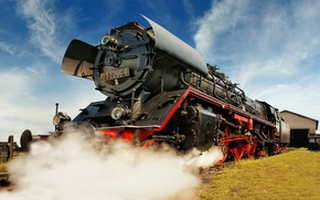 Motor, Dampf, Zug, Retro