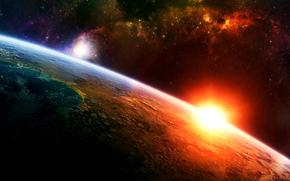 Planet, Licht, Stern