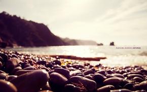 macro, photo, coast, stones, nature