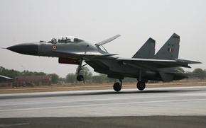 Су-30,  Сухой,  посадка