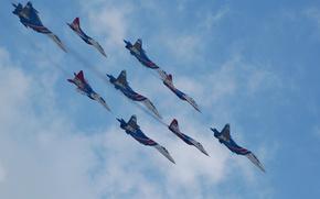 Большая девятка,  Су-27,  МиГ-29,  русские витязи,  стрижи