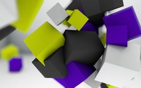 Креатив,  кубики,  желтые