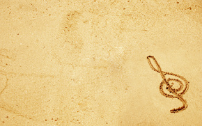 key, music, sand, picture