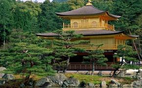 пагода,  храм,  озеро,  сикоморы,  камни,  небо,  оры
