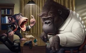 monkey, humor, phone