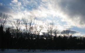 вечер,  небо,  облака