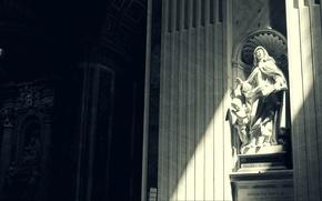 sculpture, statue, shadow, light, photo, different