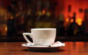 Чашка,  макро,  белая