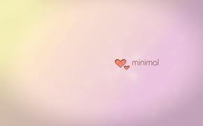 ミニマリズム, 心臓, 勾配, 最小限の, 光, パステル