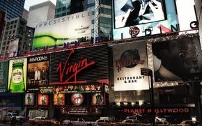 Bertelsmann edificio, New York, Stati Uniti d'America, Broadway, citt, pubblicit, auto, macchinario, edificio, casa
