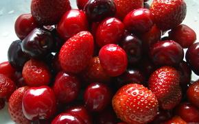 клуника,  черешня,  ягоды,  фрукты,  еда