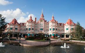Disneyland, Disneyland, Parigi, albergo, castello, fontana, cielo