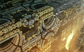 3d, struktura, Alien Strukture