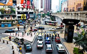 город,  дорога,  машины,  люди