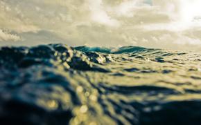 море,  волны,  макро