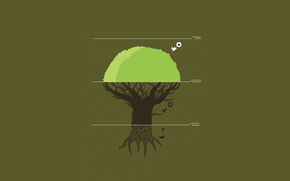 tree,  past,  present,  future,  дерево,  птичка