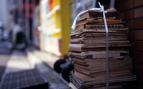 Books, wastepaper, pile, ligament