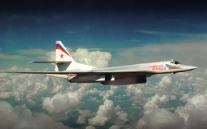 The Tu-160, missile carrier, Tupolev, White Swan