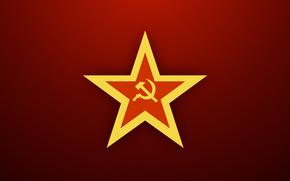 USSR, star, sickle, hammer