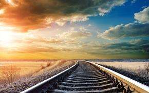Rails, cielo, luce