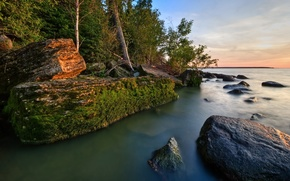 берег,  земля,  море,  камни