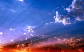 las nubes, cielo, luz, Color
