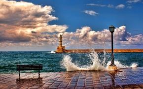 wharf, shop, lighthouse
