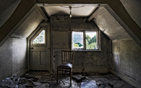 room, chair, window, greens, for, window, hope