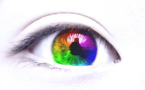 Глаз,  Разноцветный,  Красиво