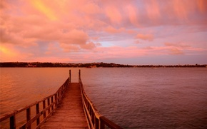 water, bridge, embankment, Rose