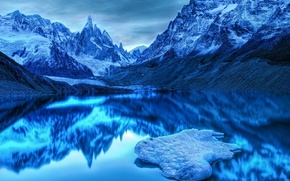 холод,  синь,  гора
