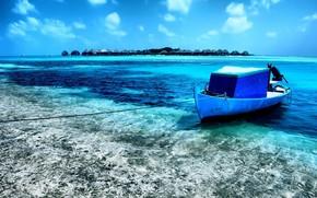 boat, Island, tropics