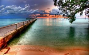 pier, tropics, beach