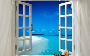 tropics, breeze, window