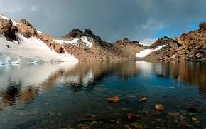 lago, Montagne, cielo