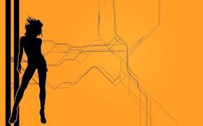 mulher, menina, fundo, papel de parede