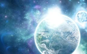 планета, звезды, солнце
