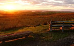 sunset, sky, landscape