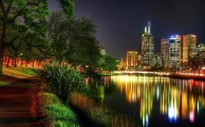 Вокруг света, город, ночь