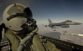 military, plane, aviation, sky, clouds, pilot, pilot, cabin, helmet, wallpaper, wallpaper
