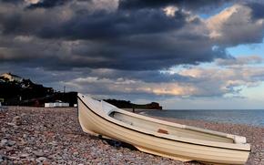 boat, sky, sea