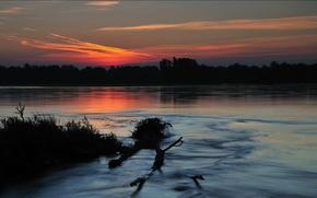 озеро,  ночь,  пейзаж,  природа