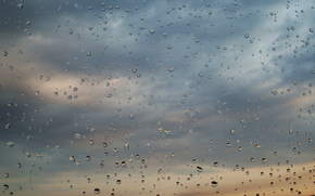 glass, rain, clouds