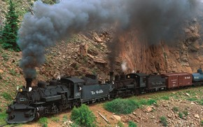 locomotiva, Colorado, montagna