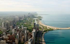 chicago, city, sea